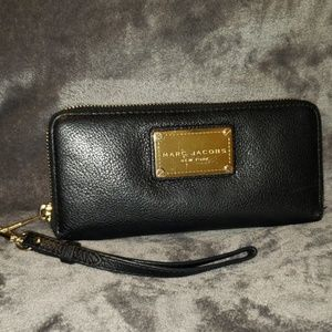"Marc Jacob's ""used"" Black Leather Wallet"